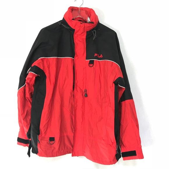 {FILA} Black & Red Winter Jacket